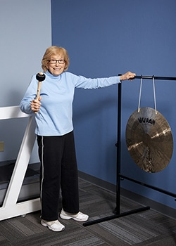 Everyone who graduates from their Physical Therapy treatment in Tucson gets to Bang the Gong.